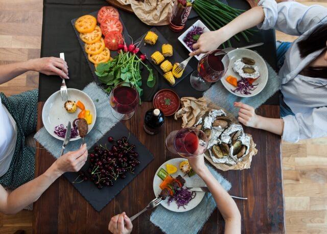 野菜のある食卓