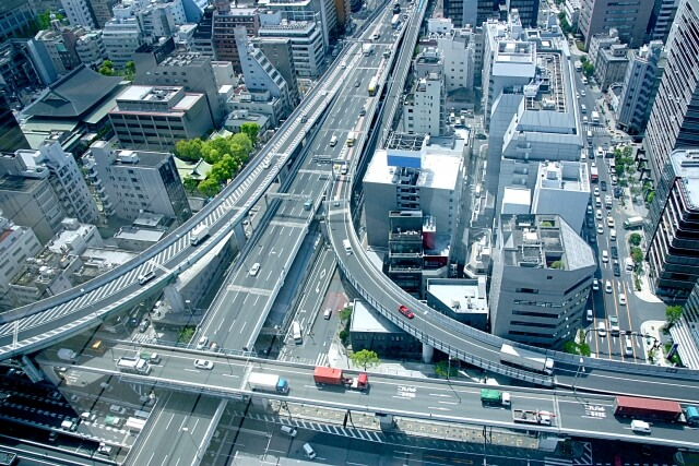 交通の流れ